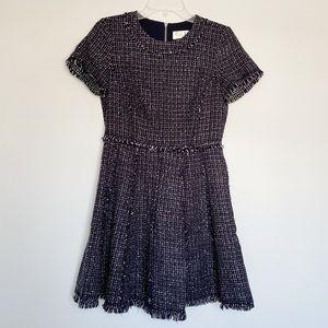 ELIZA J navy blue metallic tweed mini dress Size 6